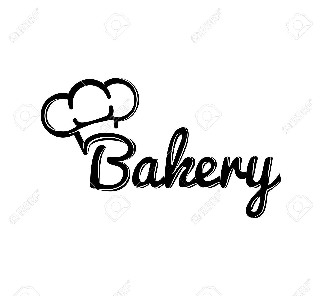hight resolution of the chef hat bakery label baker badge vector illustration stock vector 67295467