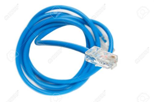 small resolution of stock photo twisted pair patch cord blue network internet cable isolated over white background