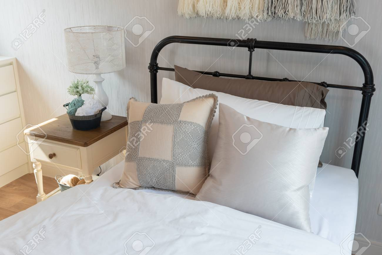 https www 123rf com photo 115299721 classic bedroom style with single bed and set of pillows interior design decoration concept html