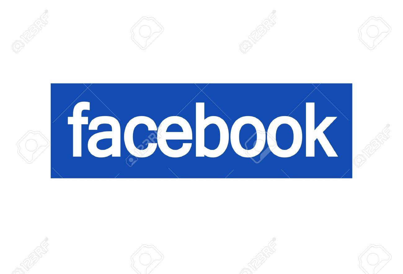 facebook logo on white