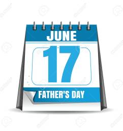 fathers day 2018 desk calendar isolated on white background fathers day date in the [ 1300 x 1300 Pixel ]