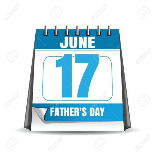 small resolution of fathers day 2018 desk calendar isolated on white background fathers day date in the