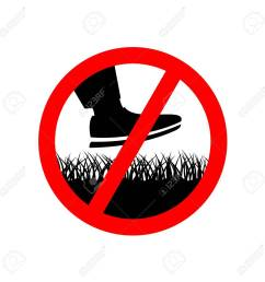 no step on the lawn grass prohibition sign keep off the grass symbol stock [ 1299 x 1300 Pixel ]