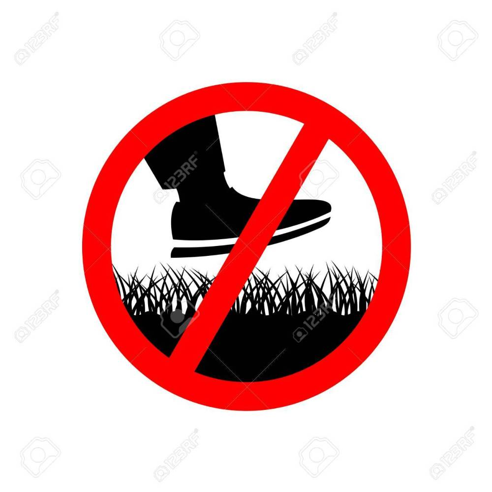 medium resolution of no step on the lawn grass prohibition sign keep off the grass symbol stock