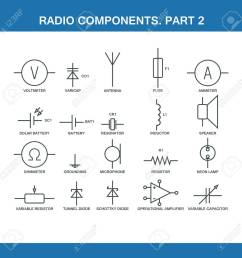 designation of components in the wiring diagram in vector format eps10 stock vector 52235524 [ 1300 x 1300 Pixel ]