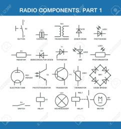 designation of components in the wiring diagram in vector format eps10 stock vector 52237902 [ 1300 x 1300 Pixel ]