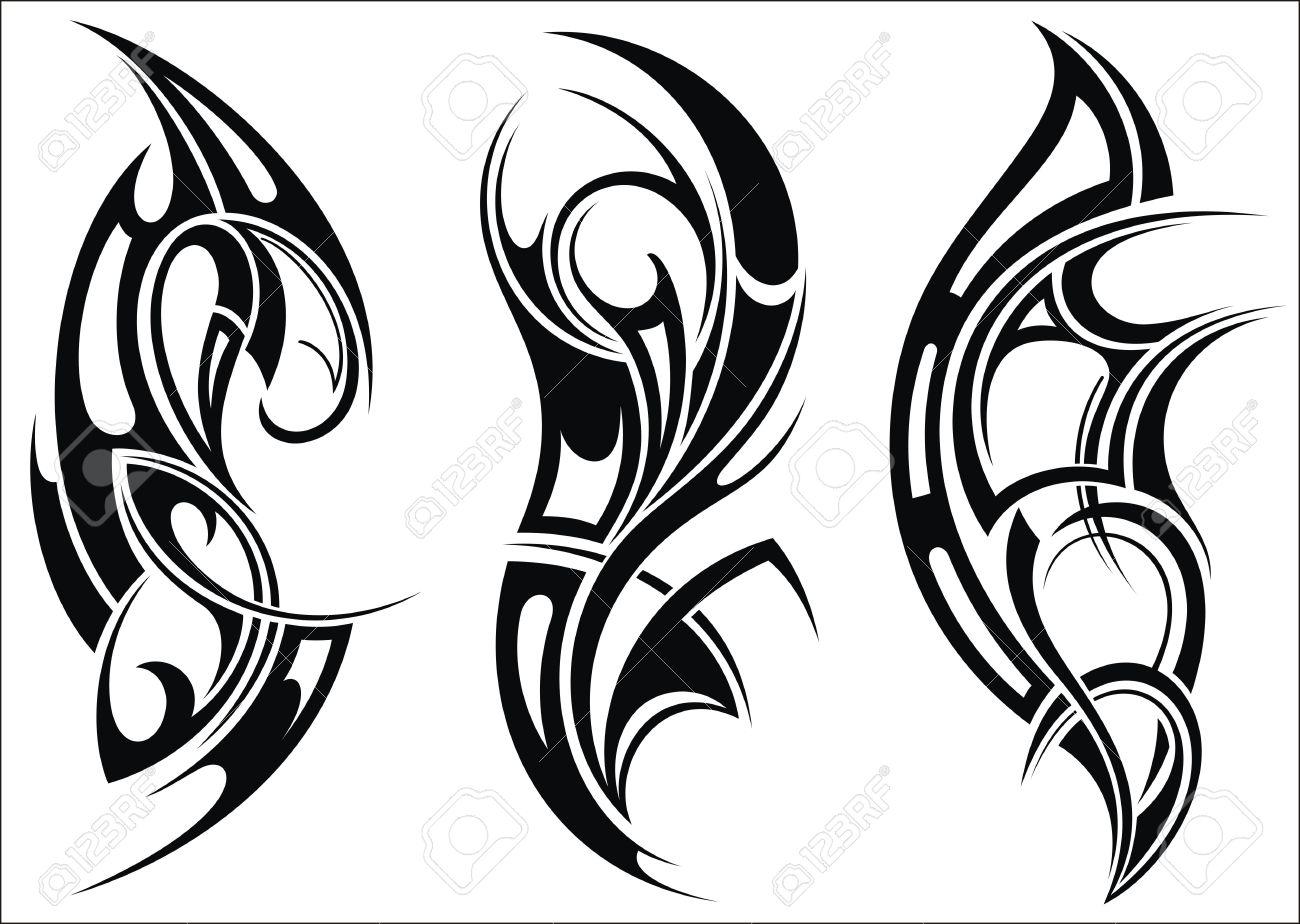 Maorí Tatuaje Patrón De Estilo De Un Hombro Ilustraciones