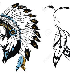 north american indian chief vector illustration stock vector 51898919 [ 1300 x 1072 Pixel ]