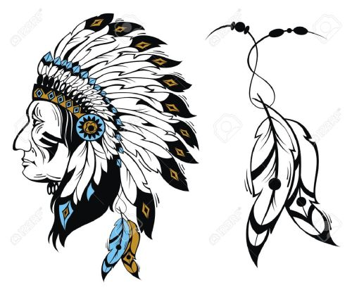 small resolution of north american indian chief vector illustration stock vector 51898919