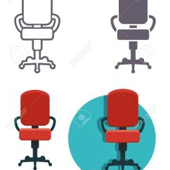 Office Chair Types Umbrella Holder For Vector Icons Of The Different Styling Royalty