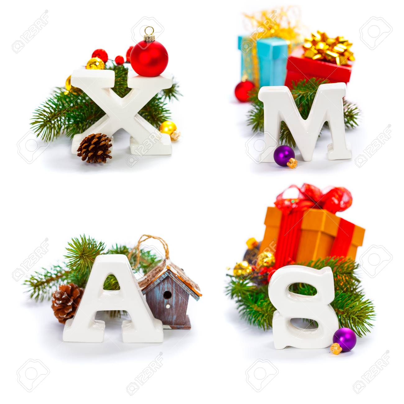 Christmas Ornament Letters