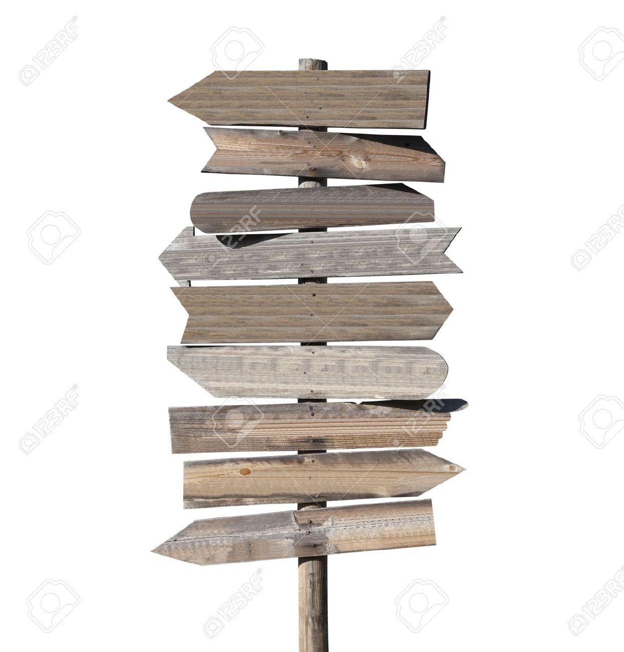 big blank wooden arrow