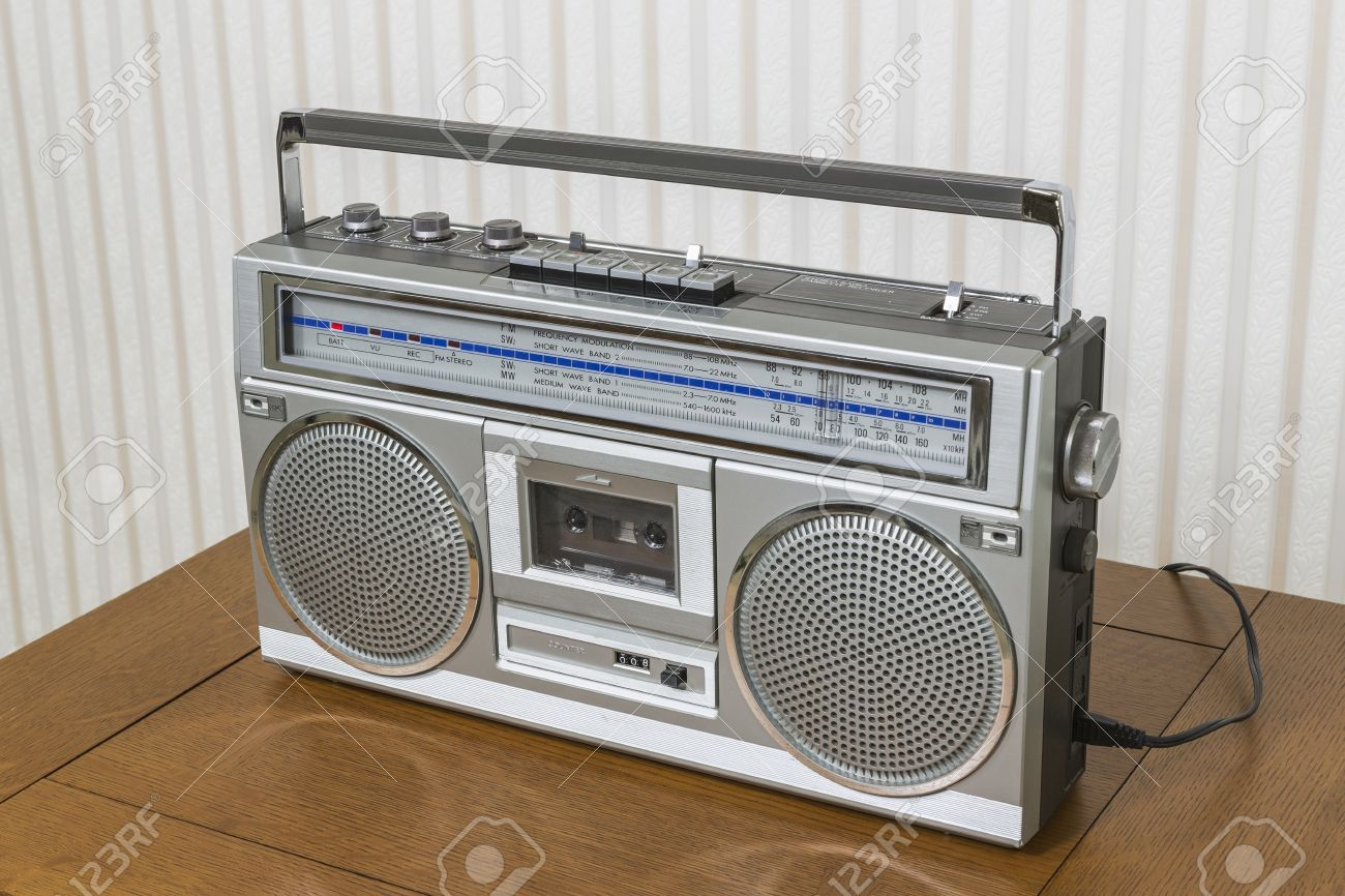 old boom box radio
