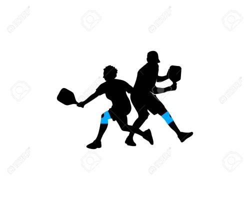 small resolution of player pickleball stock vector 87519749