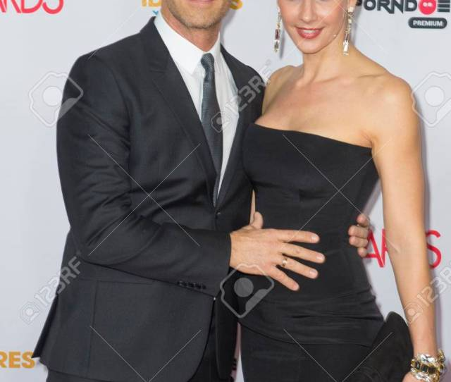 Las Vegas Jan 23 Adult Film Actor Director Rocco Siffredi L And His Wife Adult Film Actress Rosa Caracciolo Attend The 2016 Adult Video News Awards