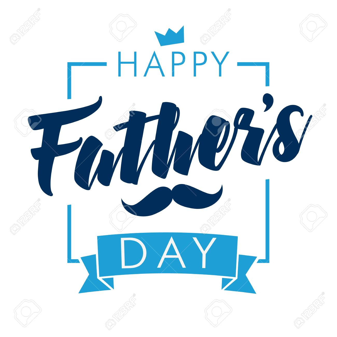 happy fathers day calligraphy