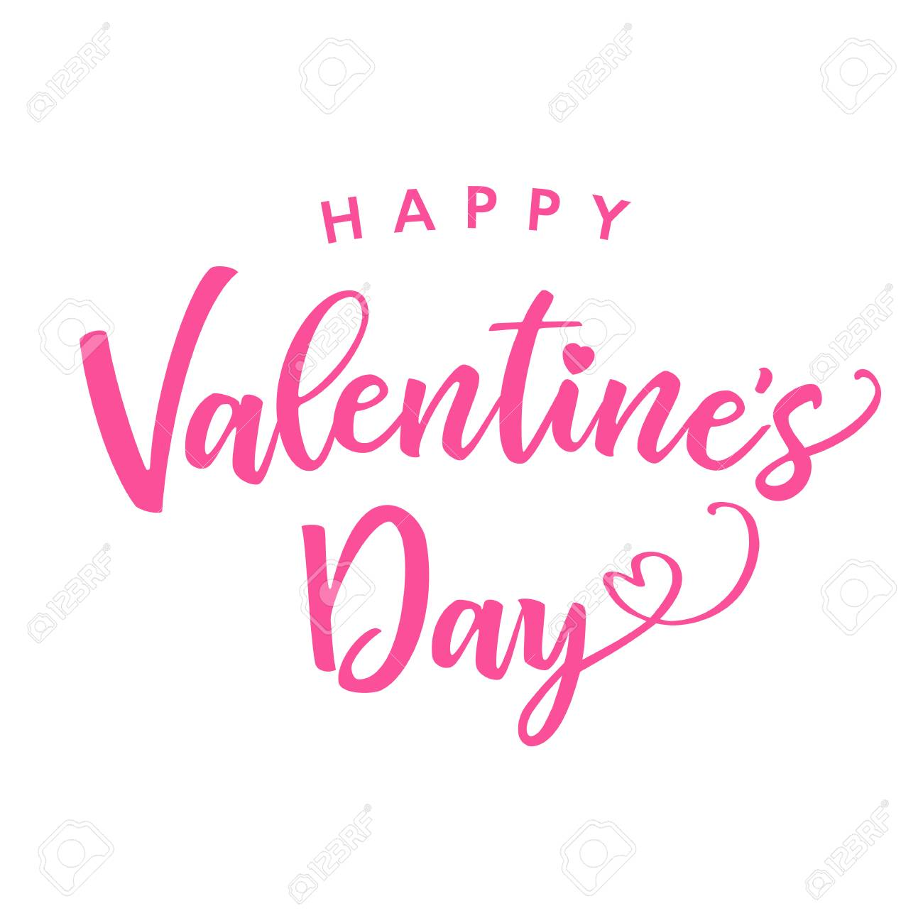 hight resolution of happy valentines day pink color lettering card greeting card template with text happy valentine s day