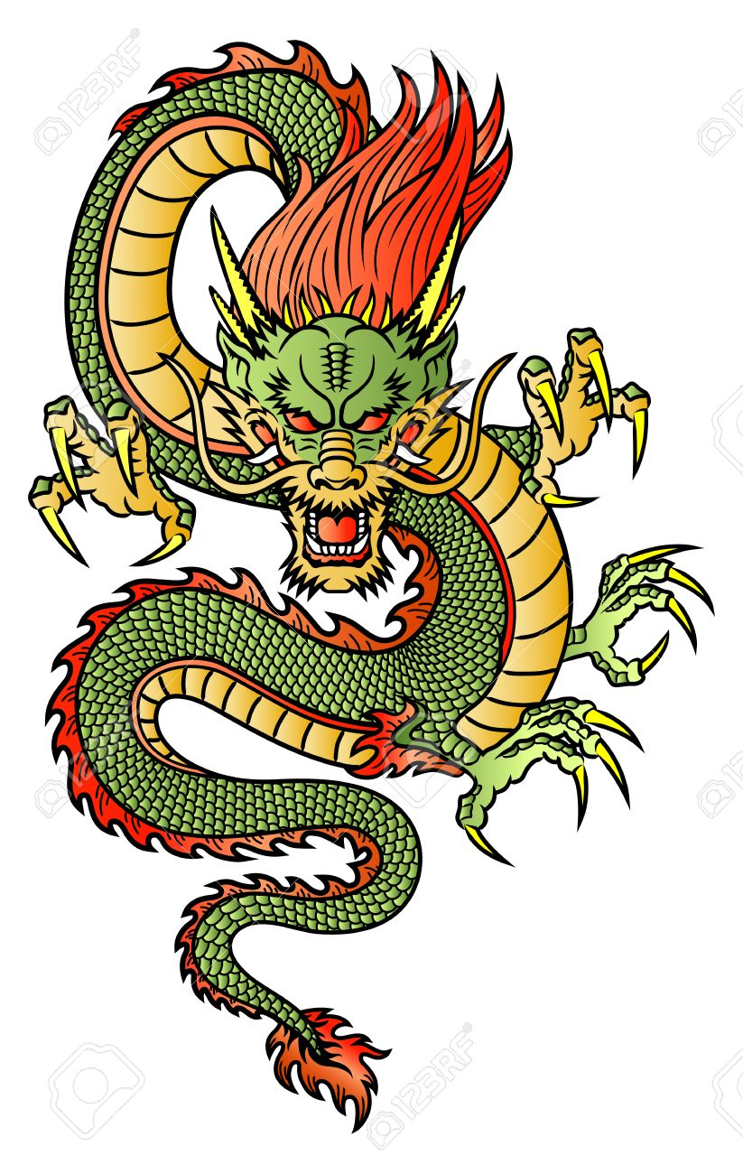 Traditional Dragon : traditional, dragon, Traditional, Asian, Dragon, Royalty, Cliparts,, Vectors,, Stock, Illustration., Image, 23709613.