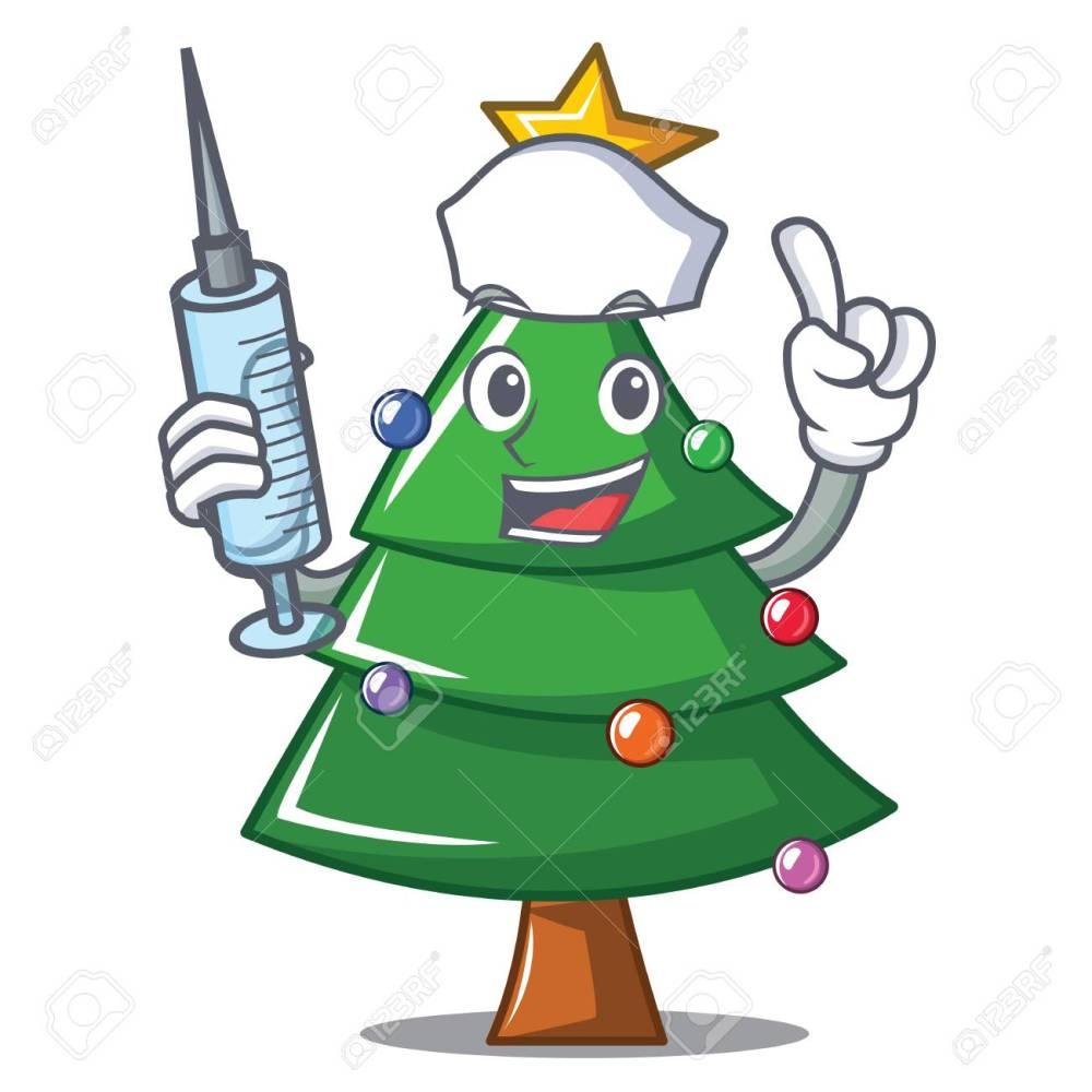 medium resolution of nurse christmas tree character cartoon vector illustration stock vector 91244948