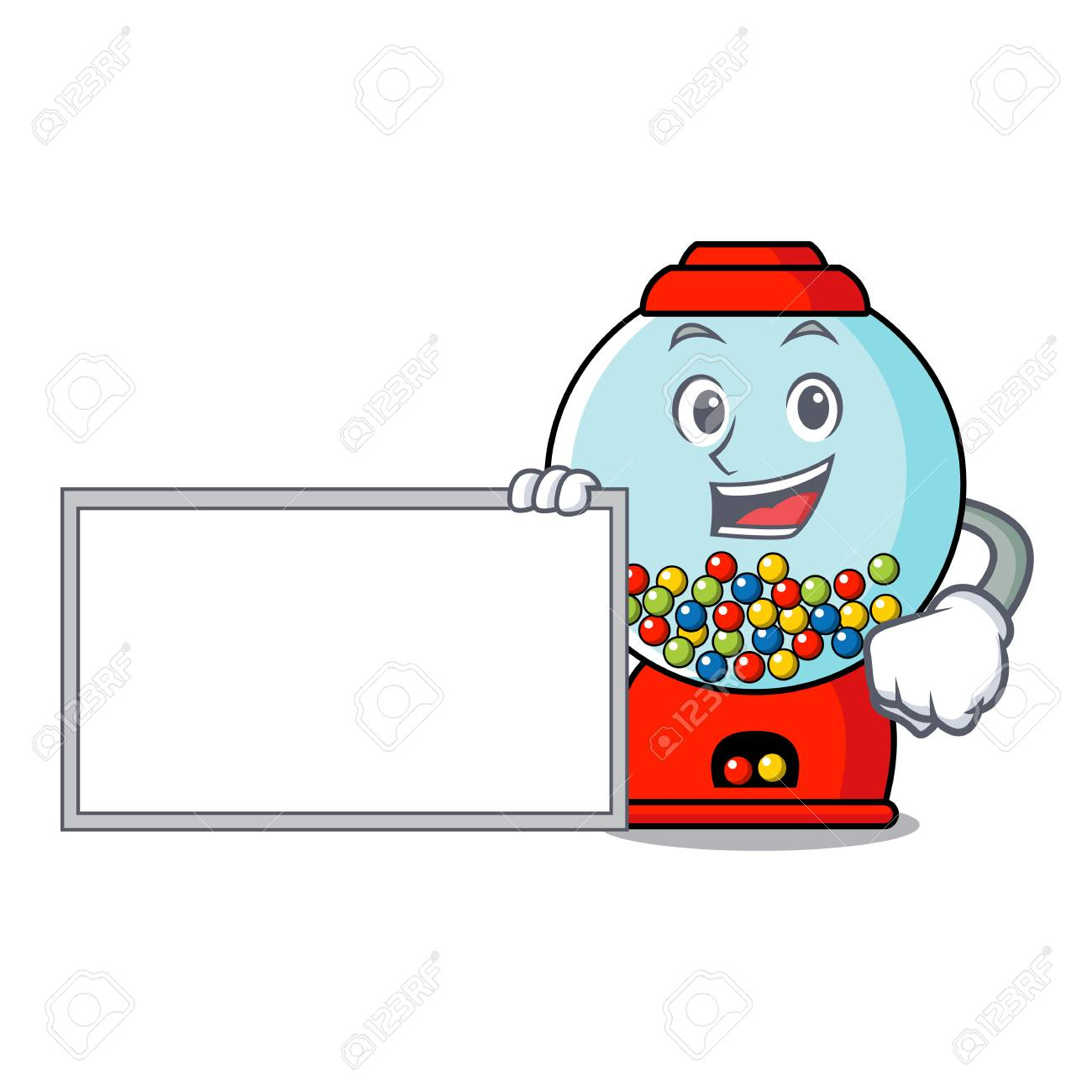 hight resolution of vector with board gumball machine character cartoon