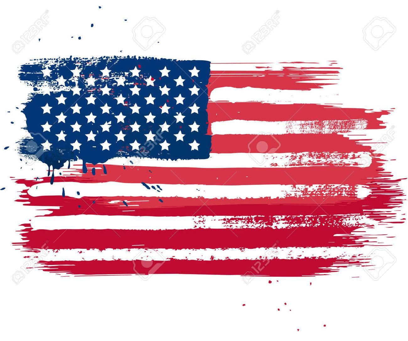 vector isolated usa flag