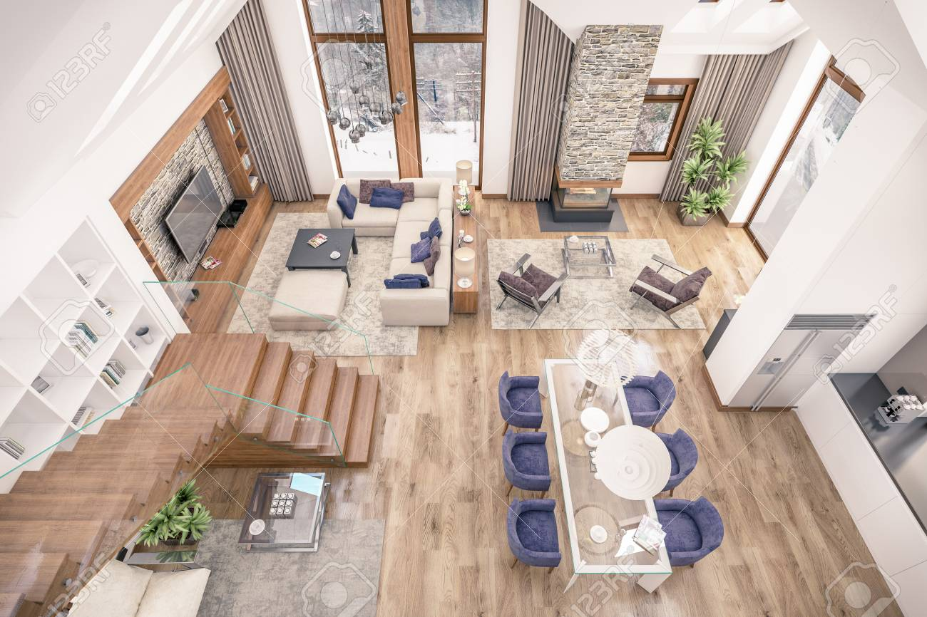Wohnzimmer Esszimmer Küche In Einem Raum Küche Und Wohnzimmer In