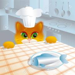 Cats In The Kitchen Ikea Counters Furry Rascal Cat Royalty Free Cliparts Vectors Stock Vector 71970086