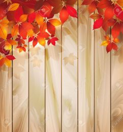 autumn background with leaves on a wood texture [ 1291 x 1300 Pixel ]