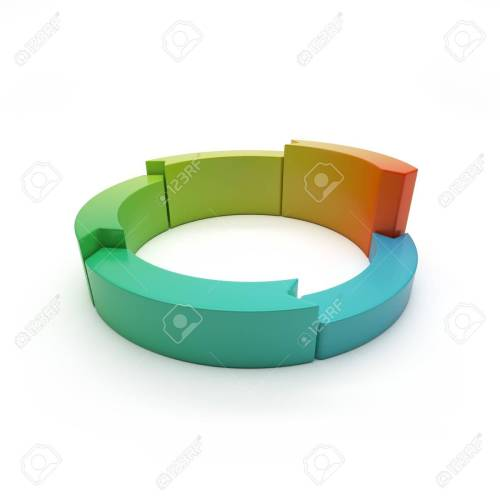 small resolution of 3d circular banners with arrows circular diagram stock photo 16033236