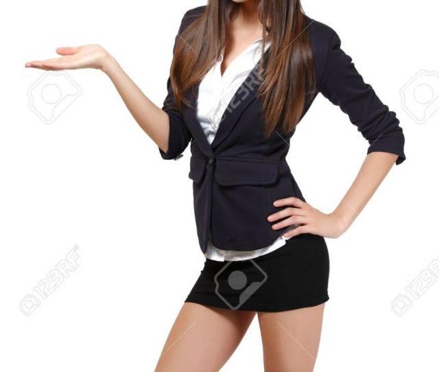 Sexy Businesswoman Isolated On White Stock Photo 13711151
