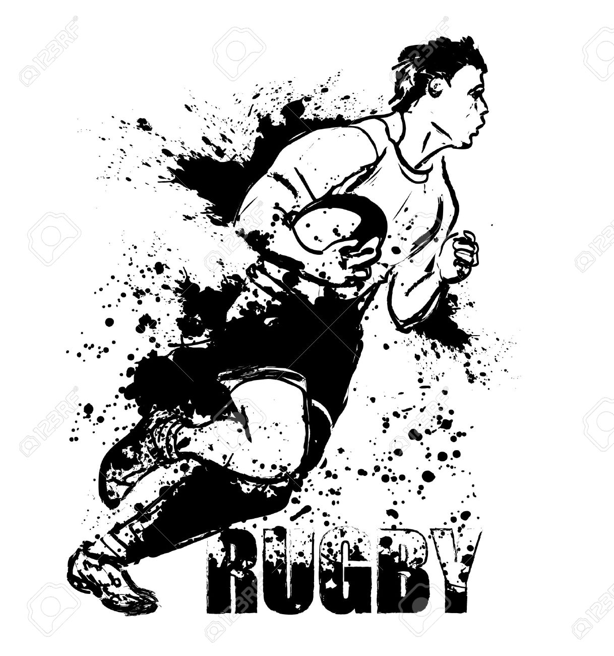hight resolution of rugby grunge stock vector 13819106
