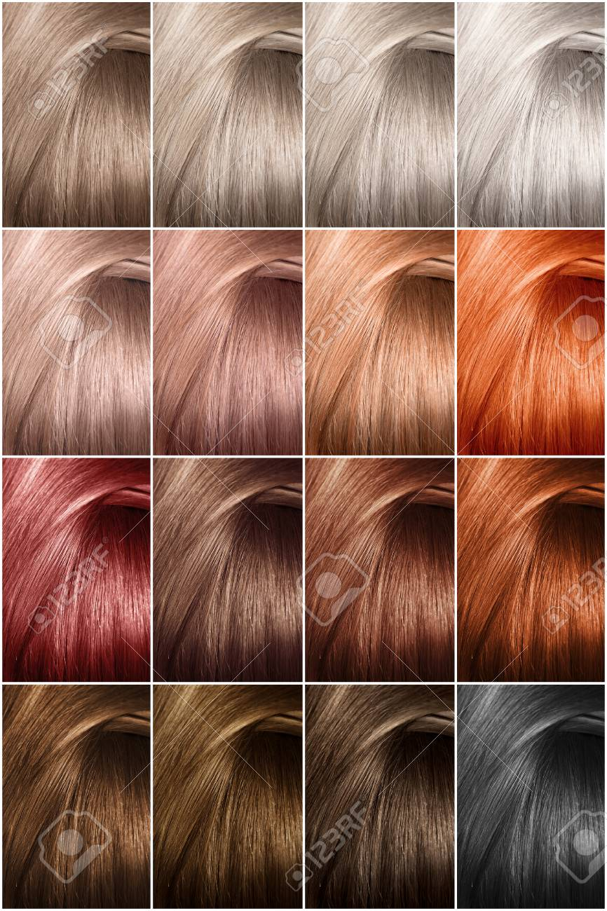 hair color palette with