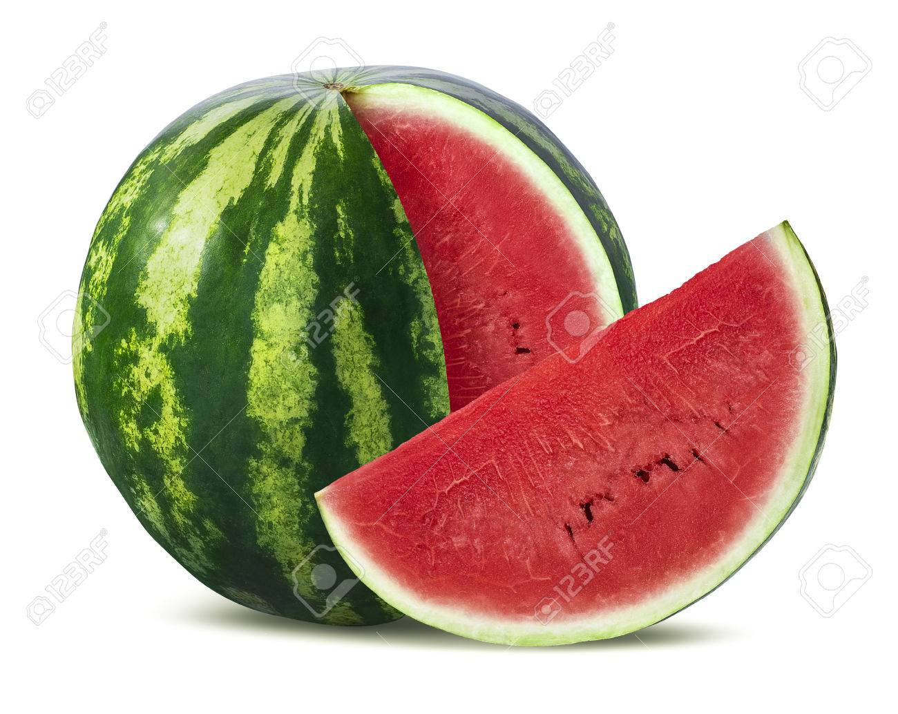 big watermelon and slice