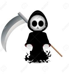 cute grim reaper clip art for halloween stock photo 15606958 [ 1300 x 1300 Pixel ]