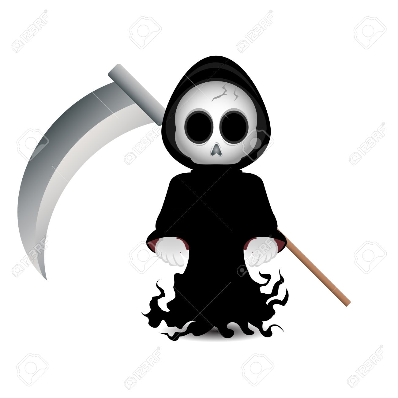 hight resolution of cute grim reaper clip art for halloween stock photo 15606958