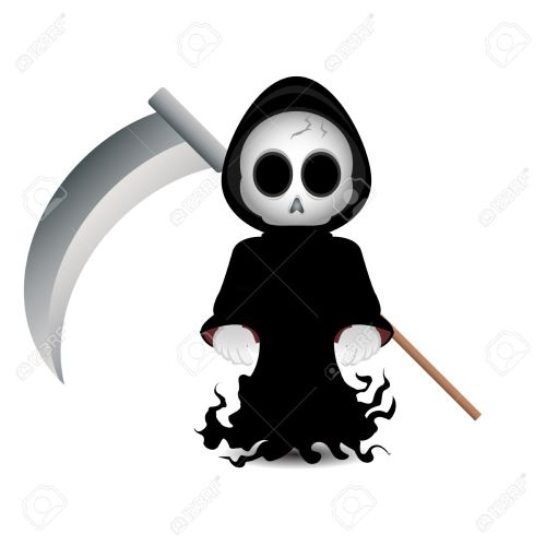 small resolution of cute grim reaper clip art for halloween stock photo 15606958