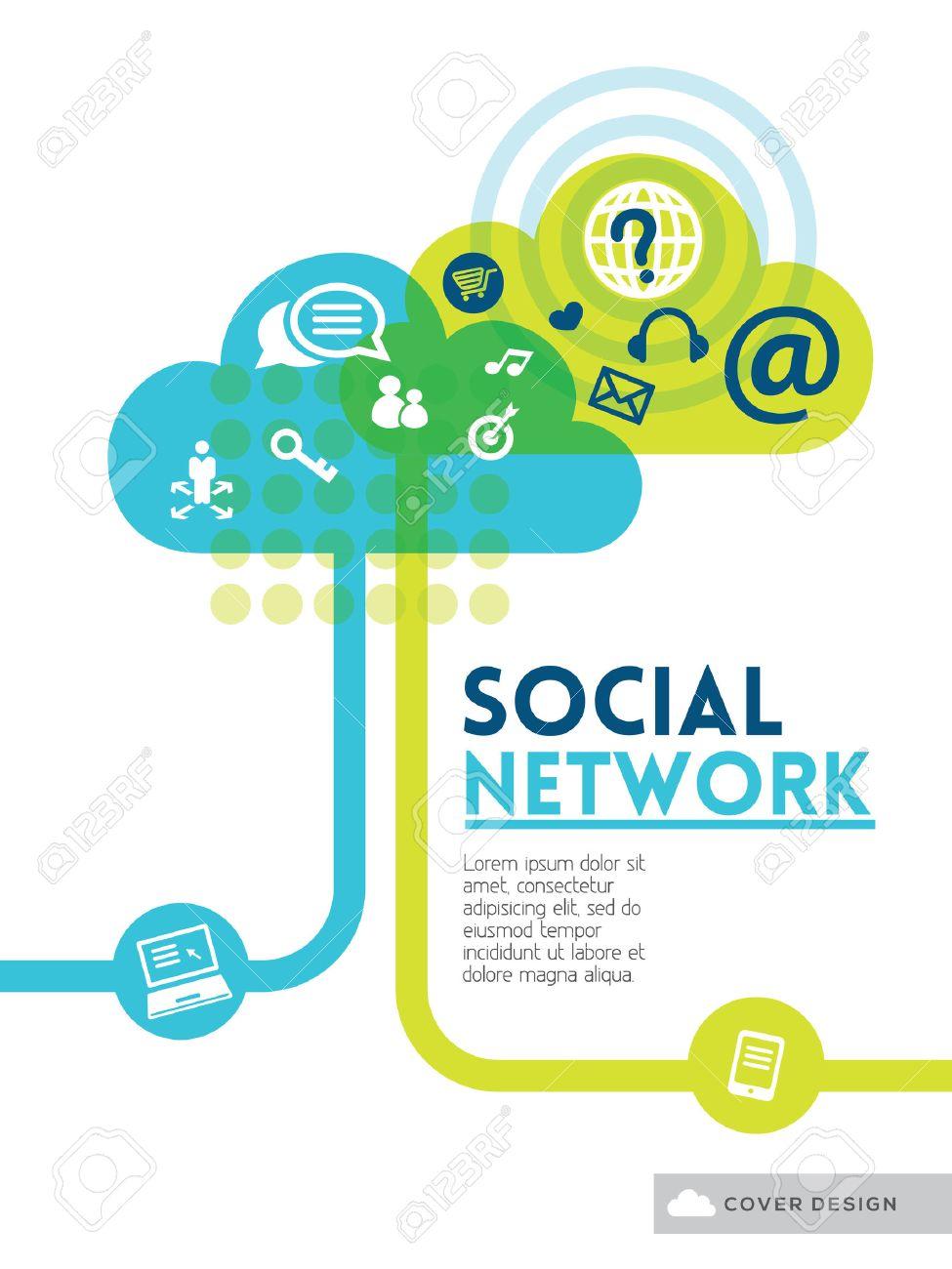 wolken social media network konzept hintergrund design layout fur plakat flyer abdeckung broschure
