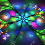Abstract Glowing Flower On Black Background Fantasy Fractal Stock Photo Picture And Royalty Free Image Image 67173340