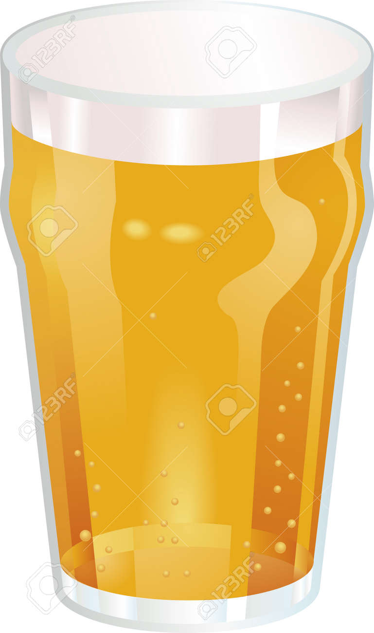medium resolution of a vector illustration of a nice pint of beer stock vector 2909567