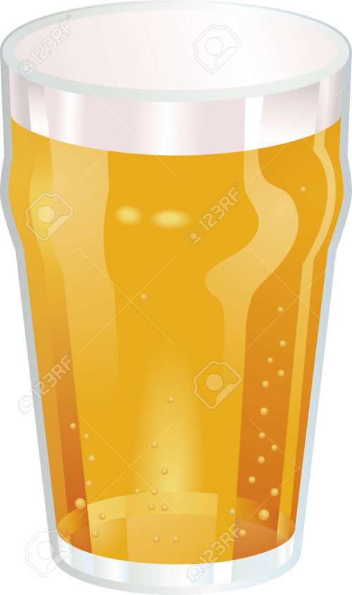 small resolution of a vector illustration of a nice pint of beer stock vector 2909567