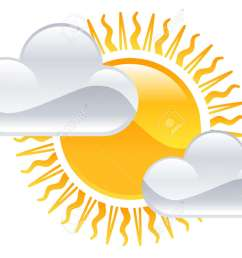 vector weather icon clipart sun and clouds illustration [ 1300 x 982 Pixel ]