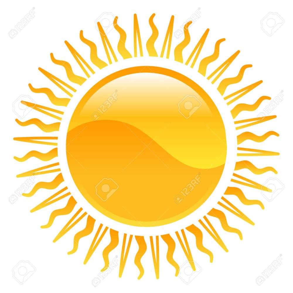 medium resolution of vector weather icon clipart sun illustration