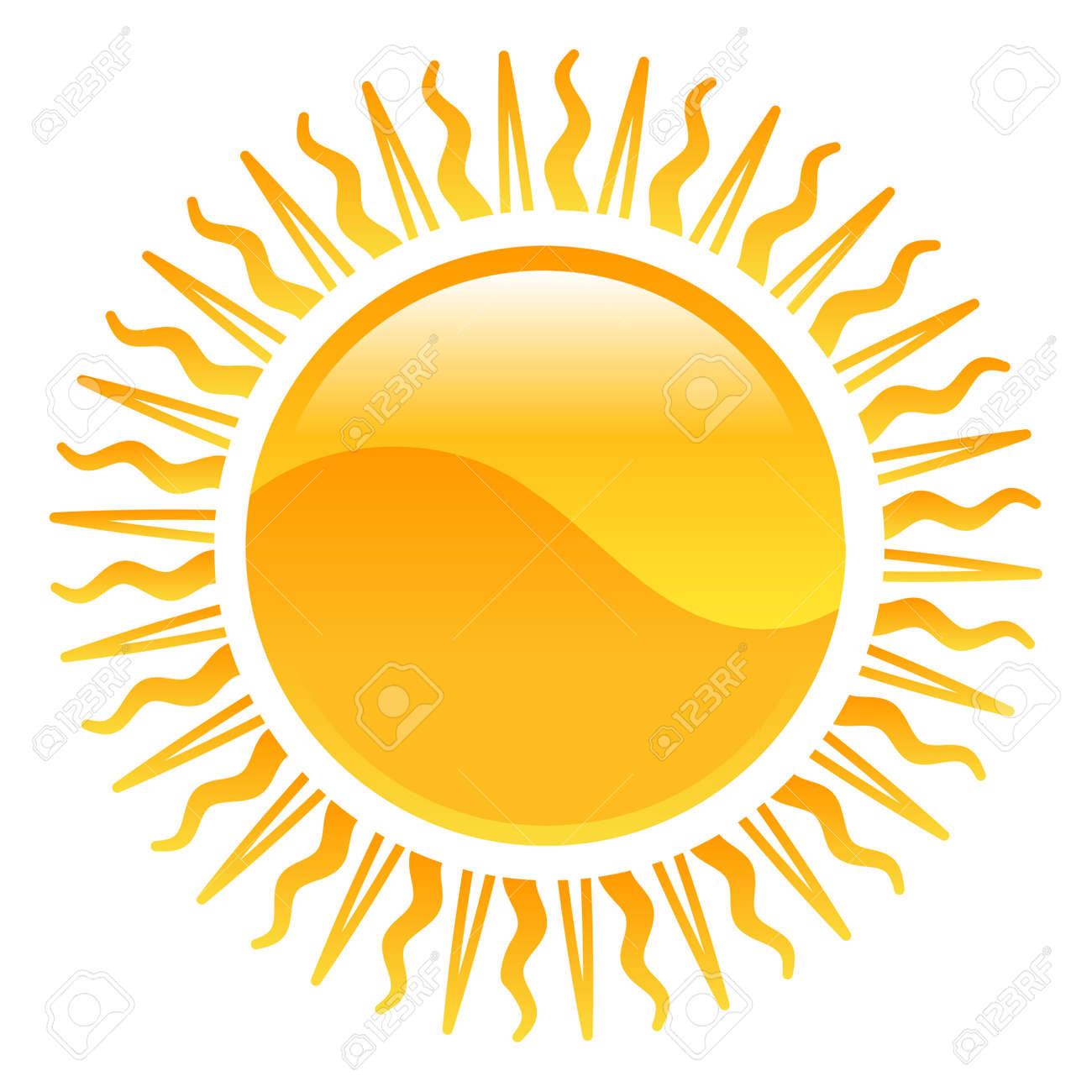 hight resolution of vector weather icon clipart sun illustration