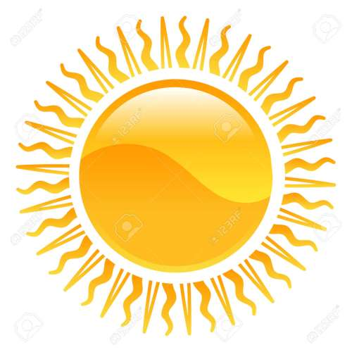 small resolution of vector weather icon clipart sun illustration