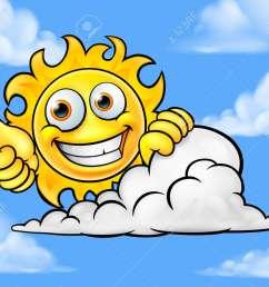 sun cartoon mascot cloud background stock vector 88890764 [ 1300 x 1104 Pixel ]