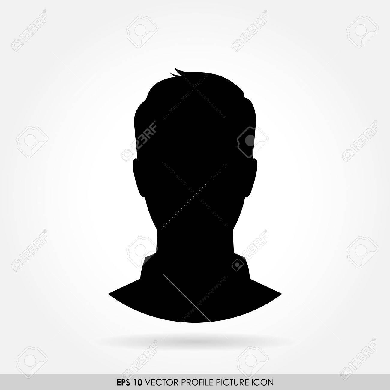 male silhouette portrait icon