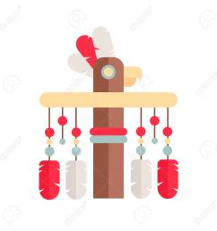 tribal ethnic totem pole native american indian theme stock vector 101848887 [ 1300 x 1300 Pixel ]
