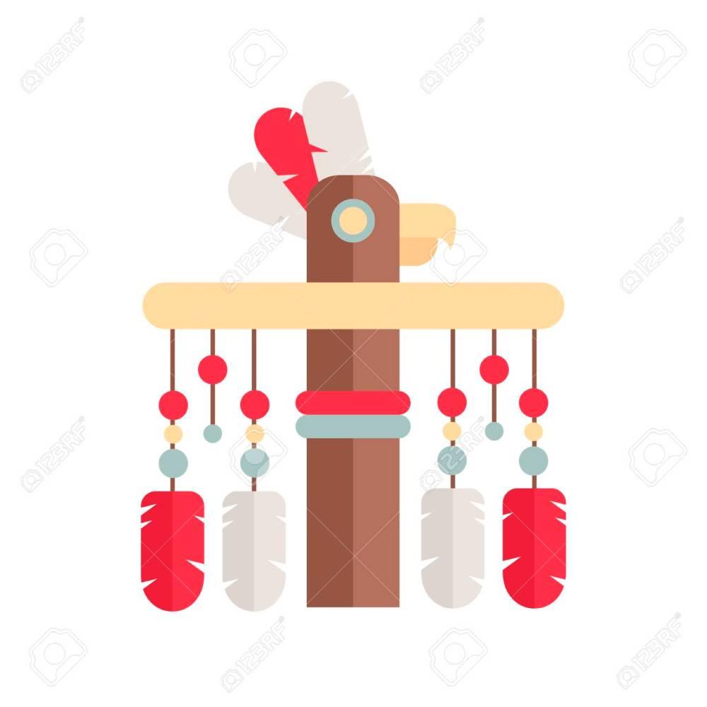 medium resolution of tribal ethnic totem pole native american indian theme stock vector 101848887