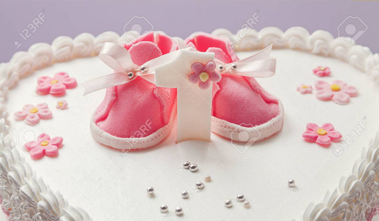 Details Of A Birthday Cake For Baby Girl Number One And Sweet