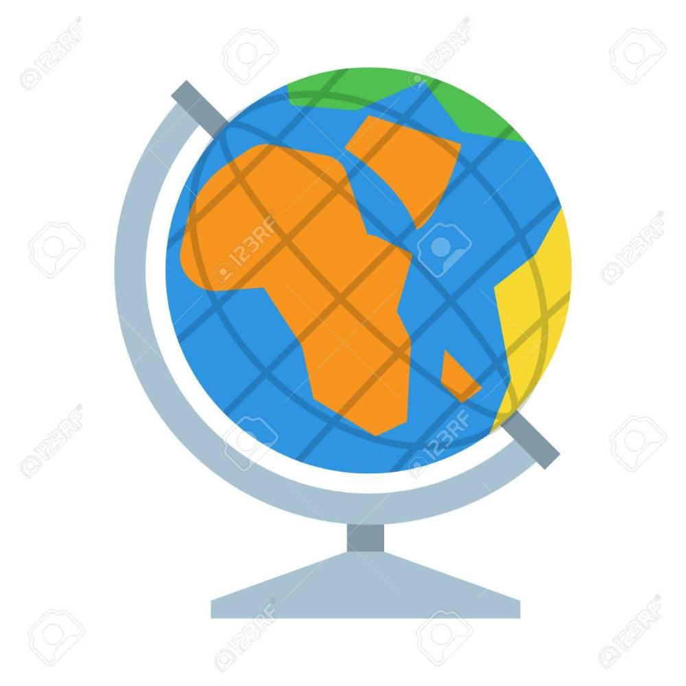 medium resolution of table world globe vector icon earth model illustration stock vector 62357312